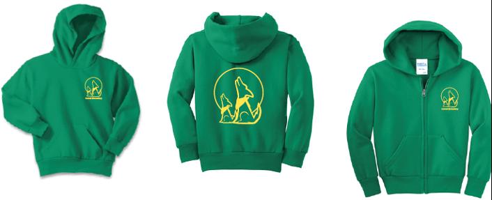Green sweatshirts and hoodies